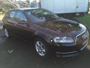 2010 Audi A3 8P 1.6L ATTRACTION Black Direct Shift Hatchback Croydon Burwood Area Preview
