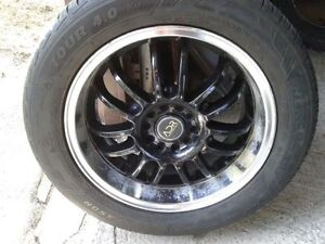 4 ADR rims 5x114.3 with 225/55/17 tires