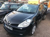 2007 Renault Clio 1.2 16v Expression 5dr, black, clean car, FIRST TO SEE WILL BUY