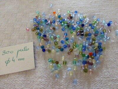 lot de 300 perle en cristal à facettes en mélange de couleurs...