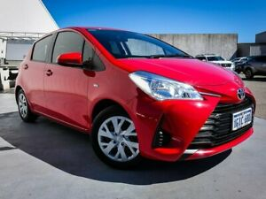 2017 Toyota Yaris NCP130R Ascent Red 4 Speed Automatic Hatchback Canning Vale Canning Area Preview