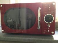 Retro red Daewoo MICROWAVE 6N9RR