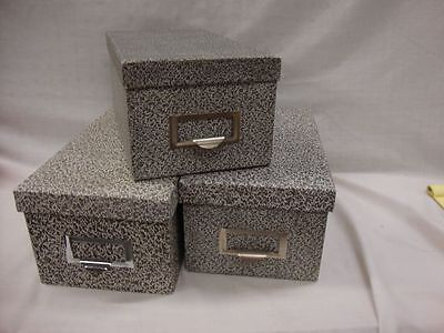 3 Globe-weis Black Agate Storage For 4 X 6 Index Card Files Lot Of 3 94 Bla
