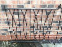 Three Wrought Iron Decking Fence Panels
