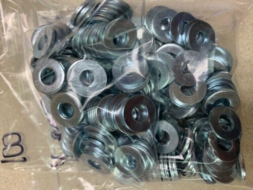 "1/4"" BOLT SIZE SAE WASHER BRIGHT  ZINC PLATED - 100PC"