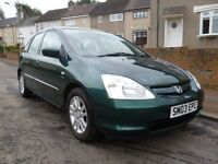 2003 Honda Civic 1.6 SE Executive Full Years MOT 5dr hatchback
