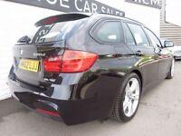 BMW 3 SERIES 2.0 320D M SPORT TOURING 5d AUTO 181 BHP (black) 2013