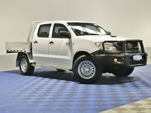 2009 Toyota Hilux KUN26R 09 Upgrade SR (4x4) White 5 Speed Manual Dual Cab Pick-up Jandakot Cockburn Area Preview