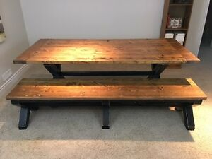 Rustic Farmhouse XBase Table and Bench London Ontario image 2