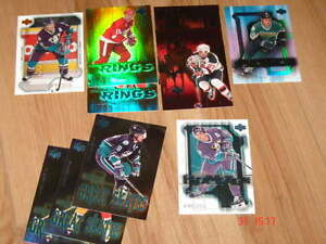 cartes de hockey UD Pros and Prospect 2000-01 - inserts