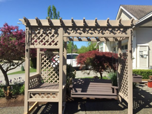 """Garden Getaway Pergola / Swing  """"First Two Pictures"""""""
