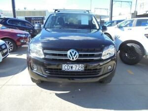 2011 Volkswagen Amarok 2H MY12 TDI400 Trendline Black 6 Speed Manual 4D Utility