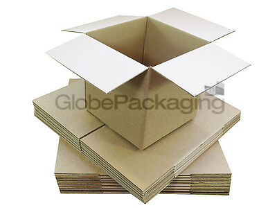 "20 x 6"" CUBE SINGLE WALL CARDBOARD MAILING BOXES 6X6X6"""
