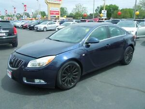 2011 BUICK REGAL CXL TURBO- POWER GLASS SUNROOF, LEATHER HEATED
