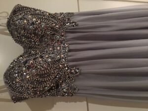 Beaded strapless grad or special event gown