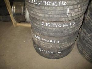 215/70 R16 MOTOMASTER USED TIRE (SET OF 4) - APPROX. 90% TREAD