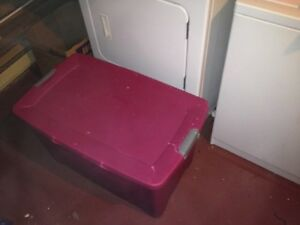 Large pink storage container -$20 OBO