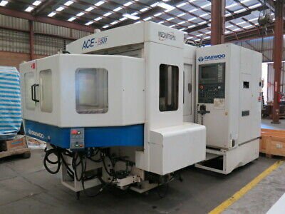 Daewoo Ace-h500 4 Axis Horizontal Machining Center Hmc 6000 Rpm