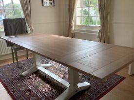 Neptune extending Harrogate Dining table in fog. Seats 6-10. Still on sale for £1,600