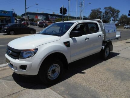 2014 Ford Ranger PX XL Double Cab White 6 Speed Manual Utility Fyshwick South Canberra Preview