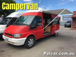 2003 Ford Transit High roof camper Red Automatic Woodville Park Charles Sturt Area Preview