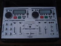 NUMARK CDMIX MP3 MIXER/CD UNIT WITH NUMARK FLIGHT CASE