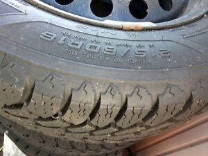 Snow tires with rims 215/60R/16 $390