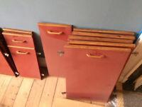 Vintage kitchen cabinet door and drawers