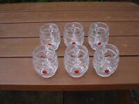 REKORDERLIG ~WINTER CIDER~ half pint tankards ( 6 GLASSES ) NEW !!!