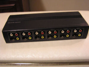 System-Selector 6-Way Audio / Video Switch Selector