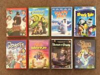 A Selection of 8 Childrens DVDS.