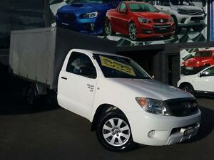 2008 Toyota Hilux GGN15R 08 Upgrade SR White 5 Speed Automatic Cab Chassis Greenacre Bankstown Area Preview