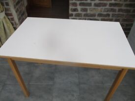 Solid Wood Kitchen Table with Formica-type Surface