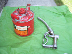 Vintage GAS NOZZLE + Vintage GAS CANS *SEE EACH PRICE *
