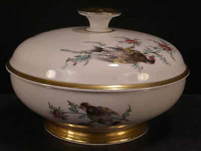 ~Vintage Eberthal German Porcelain Butterfly Covered Vegetable Dish Tureen Candy