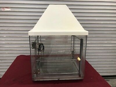 Hot Food Warming Pizza Display Cabinet Case Counter Top 2 Tier 9343 Nsf Warmer