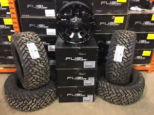 """Ford F150/GMC/Chevy Fuel Pump 18"""" Alloys and Fuel MT Package"""