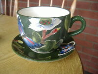 Large Cup & Saucer Plant Pot-Ceramic Art
