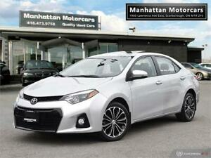 2015 TOYOTA COROLLA S |NAV|ROOF|LEATHER|CAMERA|ALLOY|WARR|62KM
