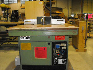 9.5 hp HD shaper  with sliding table 220 volt