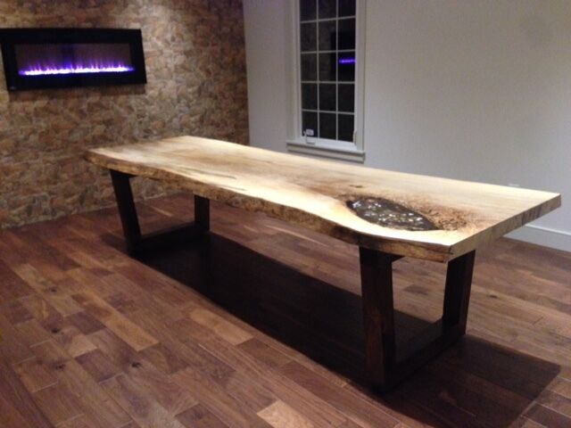 LIVE EDGE TABLE RECLAIMED WOOD TABLES WOOD SLAB FURNITURE  dining tables  and sets  City of Toronto  Kijiji