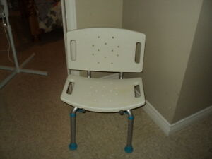 brand new shower chair and comode