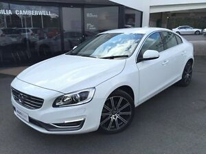 2014 Volvo S60 F Series MY14 T5 PWRSHIFT LUXURY Ice White 6 Speed Sports Automatic Dual Clutch Sedan Glen Iris Boroondara Area Preview