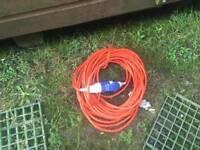 Caravan electric hook up cable
