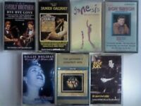 A-Z EVERLY BROS, GALWAY, GENESIS, D GIBSON, B HOLLIDAY, JACKSON 5, B JOEL PRERECORDED CASSETTE TAPES