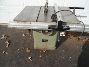 "10"" King table saw 3 hp 3 belt drive"