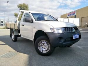 2009 Mitsubishi Triton ML MY09 GLX White 5 Speed Manual Cab Chassis Malaga Swan Area Preview