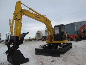 KOMATSU PC128US   Excavator W/Hydraulic Thumb Dozer Blade