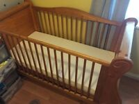 Lovely pine sleigh bed cot reduced to 50 pounds