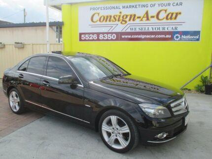 2009 Mercedes-Benz C200 Kompressor W204 Avantgarde Black 5 Speed Sports Automatic Sedan